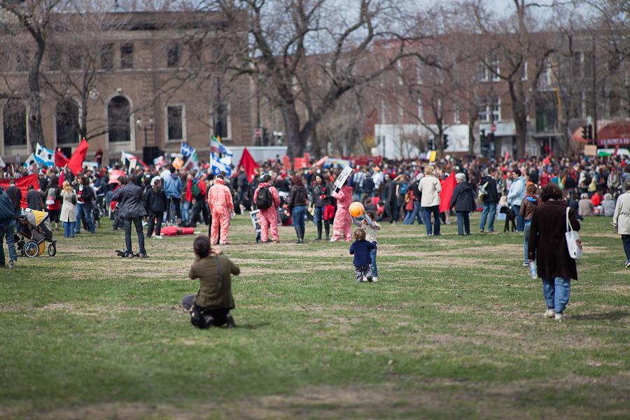 Manifestation populaire du 14 avril: Pour un Printemps québécois! [photos Thien V]