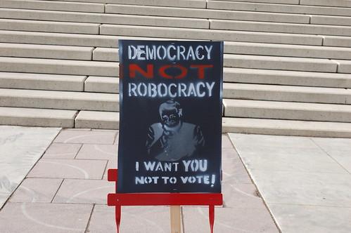 Democracy Not Robocracy Rally #2