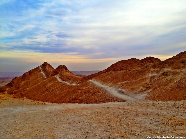 Israel Trail at Makhtesh Ramon at Sunrise