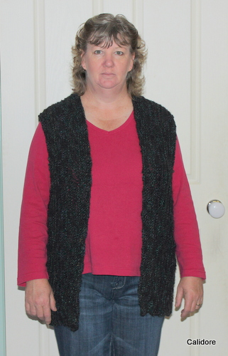 Sideways Knitted Vest