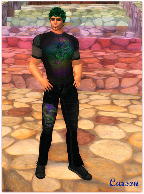 Tori's Style - Retro Dragon T-shirt and Jeans, Alli&Ali Designs - Finley Hair Bold (1)