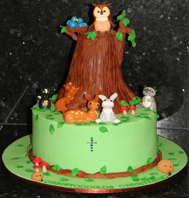 Cakes Shower Safari Baby Sheet