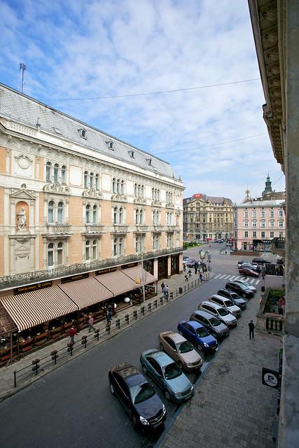 Shevchenka avenue. Lviv, Ukraine