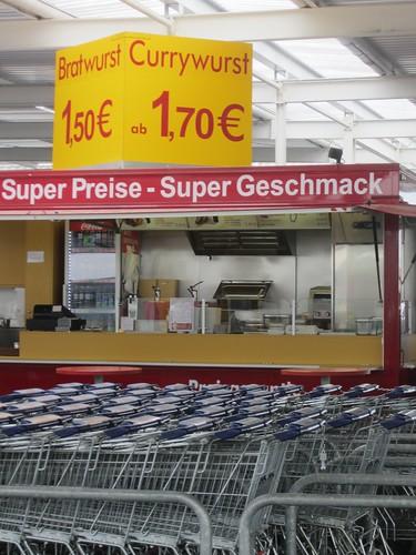 German sausage stall
