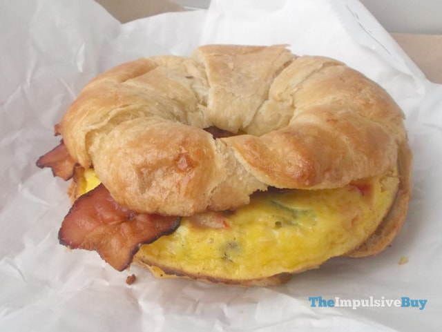 Dunkin' Donuts Bacon Supreme Omelet Breakfast Sandwich