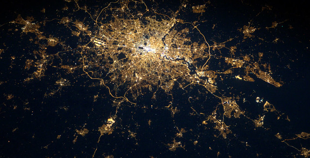 The lights of London are captured by ESA astronaut Andre Kuipers