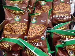Annie's Organic Pretzels in Rabbit shapes