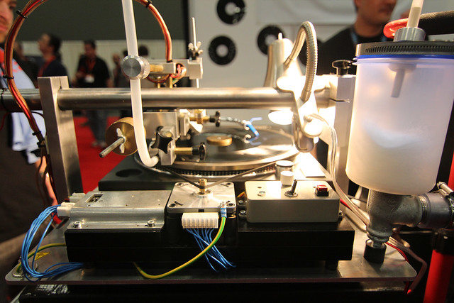 A record being etched at SXSW 2012