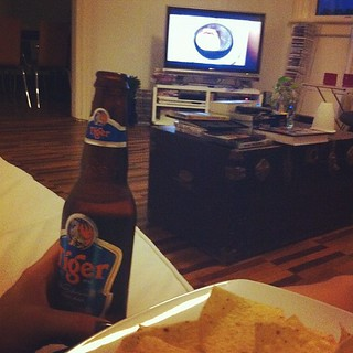 Doritos, tiger beer and #newgirl. I feel like such a dude. Apart from the last part..