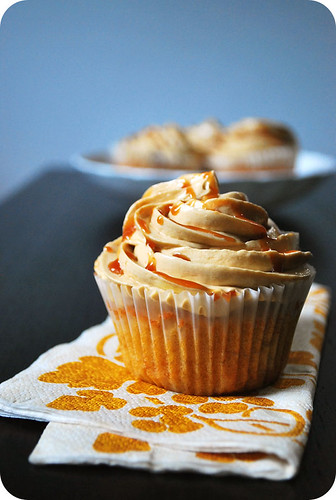 Caramel Cupcakes with Salted Caramel Frosting