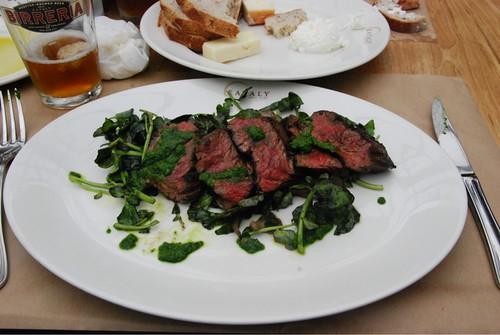 Steak from Birreria