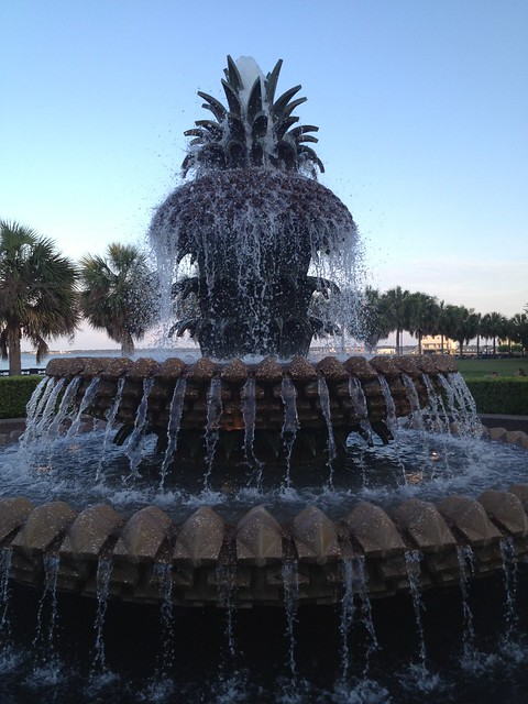 Pineapple Fountain, Charleston Waterfront Park
