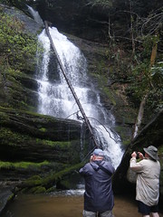 Brothers Photographing Falls
