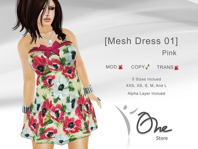 [Mesh Dress 01] Pink