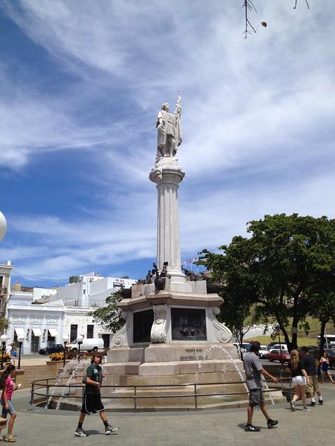 Discoverer statue Plaza de Colon