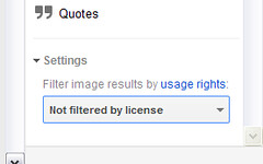 Filter search results by license