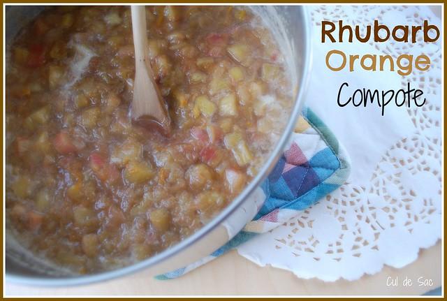 Rhubarb orange compote