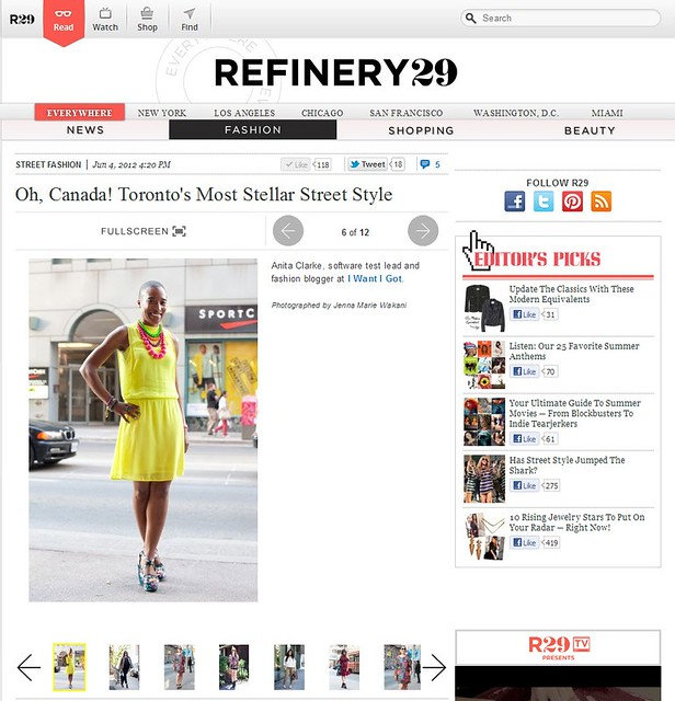 Refinery29 June 4 2012