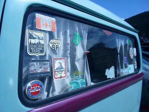 Stickers on a VW van