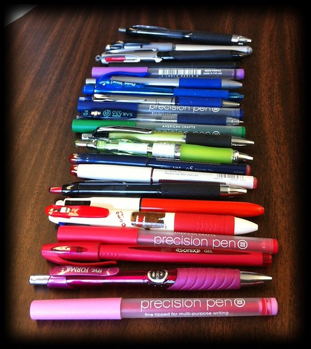 Pens from my bag on Tuesday.