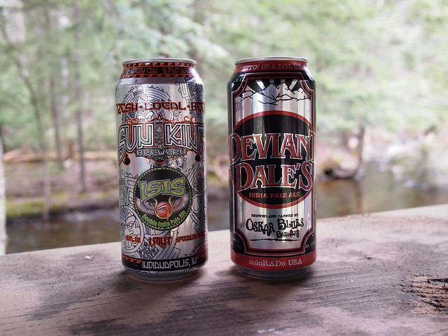 Oskar Blues Deviant Dale's India Pale Ale & Sun King Isis Imperial IPA