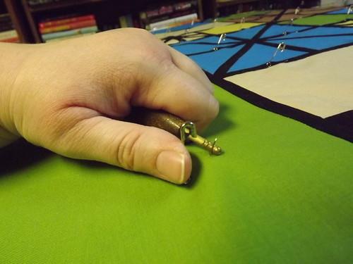 Kwik Klip basting pin tool