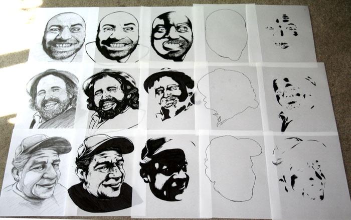 Joe Rogan Atlanta Show Poster Drawings