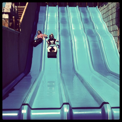 they made me go on this giant slide