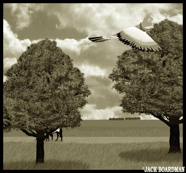 Flutters woolgathering ©2012 Jack Boardman