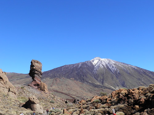 Roque Cinchado y Pico del Teide