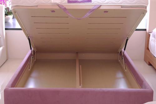 掀床工廠推薦款-仙蒂人造白橡床組-高質感排骨透氣掀床床架組3