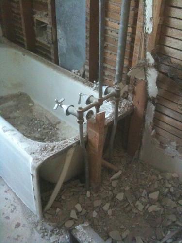 Bathroom Remodel: Day Three, STUDLY!