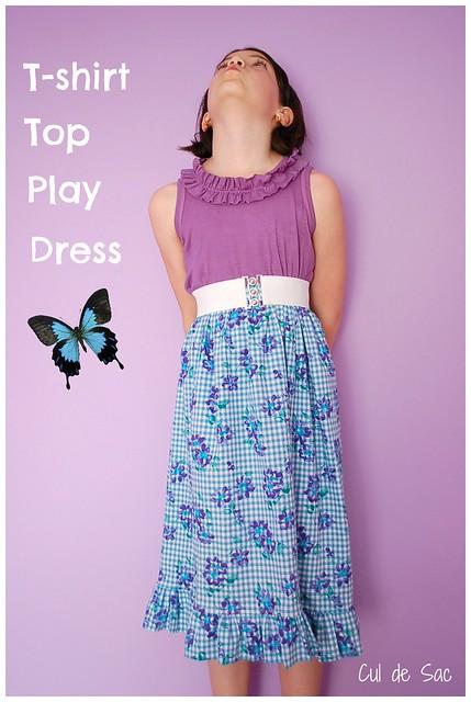 T-shirt top dress