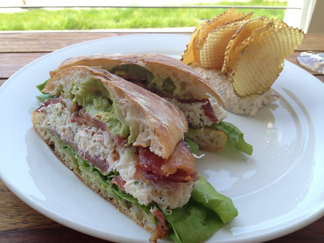 Fresh local dungeness crab sandwich - Farley Bar