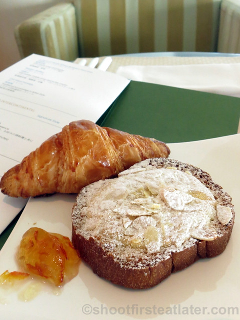 almond french toast & croissant