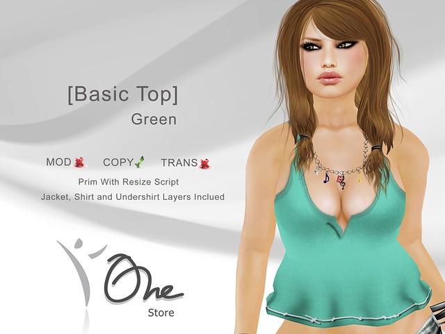 [Basic Top] Green