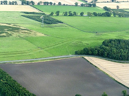 The Vallum at Down Hill from the air