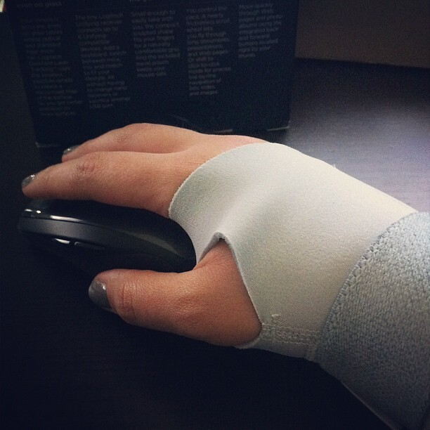 Bye bye Magic Mouse. Hello Logitech mX and wrist brace.