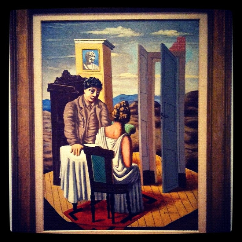 """Giorgio de Chirico's """"Conversation among the Ruins"""" at the National Gallery of Art (Instagrammed photo)- February 2012"""