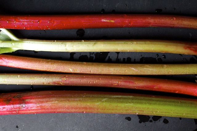 pretty stalks of rhubarb, at last