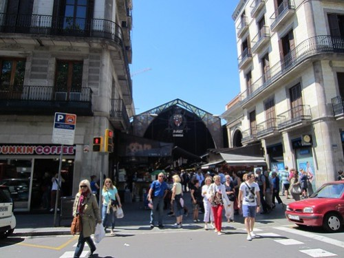 entrance to the boqueria