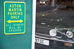 Aston Martin Parking Only