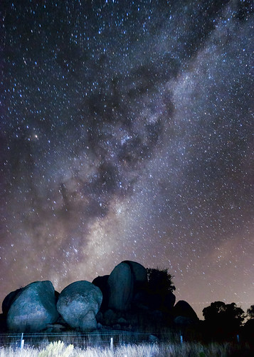 Rocky outcrop under the Milky Way by Indigo Skies Photography