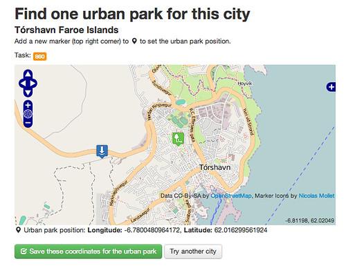PyBossa Urban Parks