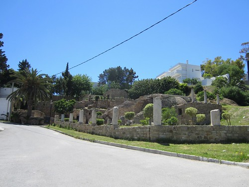 ruins in a yard in carthage