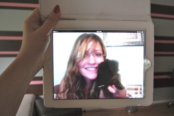 Monica Skype iPad