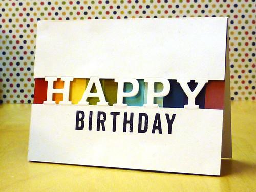 Happy Birthday - Partial Cut v.2