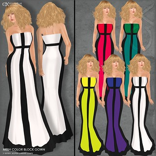 ezura + Color Block Gown All colors