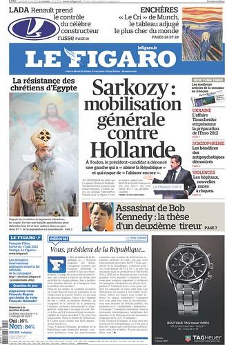 Une du Figaro de ce vendredi