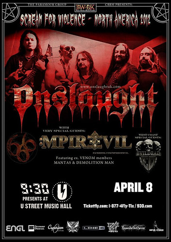 Onslaught at U Street Music Hall
